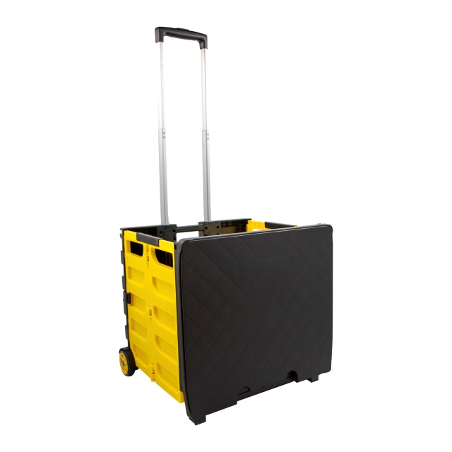 Fold It Rolling Storage Crate Yellow Black Lotususa